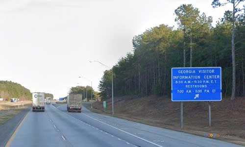 ga i20 rest area eastbound mile marker 1